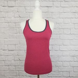 Lululemon Ebb and Flow red gray racerback tank top
